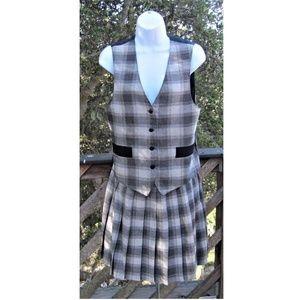 Vintage, Rafferty, vest, pleated skirt, set, 1970s